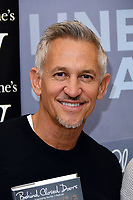 Gary Lineker, former England footballer, and Danny Baker, comedian, sign copies of their book, Behind Closed Doors, a collection of tales from life behind the scenes in professional football, at Waterstones Leadenhall Market, London, England on November 29, 2019.<br /> CAP/JOR<br /> ©JOR/Capital Pictures