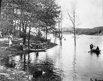 Boating on Bellevue Lake in Lakewood Park, September 14, 1891.