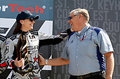 #86 Meyer Shank Racing with Curb-Agajanian Acura NSX, GTD: Katherine Legge, with Art StCyr of Honda and Acura