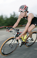 09 JUN 2007 - TREDEGAR, UK -  Julie Dibens stretches her lead during the bike on her way to winning the National Elite Womens Triathlon Championships at the second round of the Corus Elite Triathlon Series. (PHOTO (C) NIGEL FARROW)