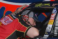 May 4, 2007; Richmond, VA, USA; Steve Letarte crew chief for Nascar Nextel Cup Series driver Jeff Gordon (24) during practice for the Jim Stewart 400 at Richmond International Raceway. Mandatory Credit: Mark J. Rebilas
