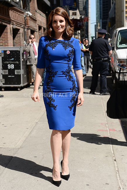 WWW.ACEPIXS.COM <br /> May 7, 2015 New York City<br /> <br /> Tina Fey arrives to tape an appearance on the Late Show with David Letterman on May 7, 2015 in New York City.<br /> <br /> Please byline: Kristin Callahan/ACE Pictures  <br /> <br /> ACEPIXS.COM<br /> Ace Pictures, Inc<br /> tel: 646 769 0430<br /> e-mail: info@acepixs.com<br /> web: http://www.acepixs.com