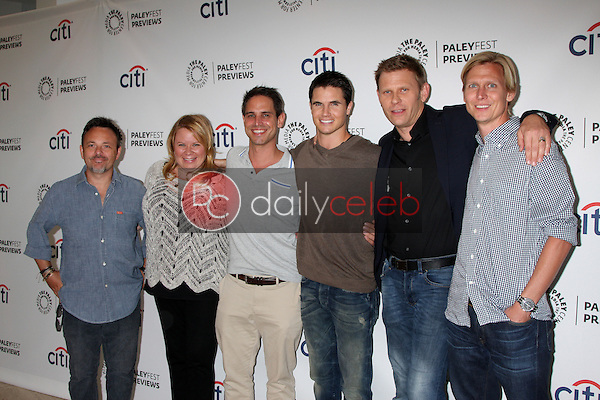 """Danny Cannon, Julie Plec, Greg Berlanti, Robbie Amell, Mark Pellegrino, Phil Klemmer at the PaleyFest Previews:  Fall TV CW - """"The Tomorrow People,"""" Paley Center for Media, Beverly Hills, CA 09-07-13<br /> David Edwards/Dailyceleb.com 818-249-4998"""