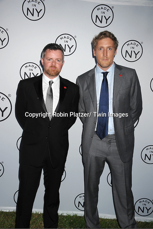 "honorees Brian  Carmody and Patrick Milling Smith of Smuggler attending The ""Made in NY"" Awards at Gracie Mansion.on June 6, 2011. Matt Damon, John Leguizammo and Lauren Zalaznick and Sidney Lumet were the honorees."