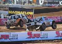 Apr 16, 2011; Surprise, AZ USA; LOORRS driver R.J. Anderson (37) races alongside Jacob Person (92) during round 3 at Speedworld Off Road Park. Mandatory Credit: Mark J. Rebilas-.
