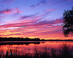 Sunset over Lake Quannapowitt, Wakefield, Massachusetts