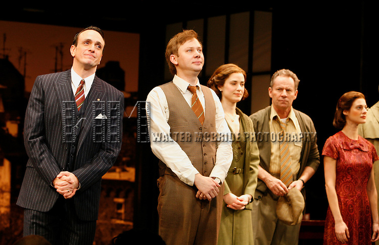 Hank Azaria & Jimmi Simpson with the Ensemble Cast.during r the Opening Night Performance Curtain Call for  THE FARNSWORTH INVENTION at the Music Box Theatre in New York City..December 3, 2007.© Walter McBride /