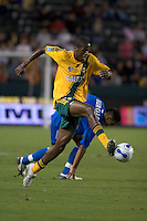 Los Angeles Galaxy midfielder Quavas Kirk dribbles the ball upfield. The Los Angeles Galaxy defeated the Kansas City Wizards, 2-1, at the Home Depot Center in Carson, Calif. on September 2, 2006.