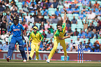 Pat Cummins (Australia) opened proceedings from the Vauxhall End during India vs Australia, ICC World Cup Cricket at The Oval on 9th June 2019