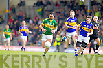 Paul Galvin, Kerry in action against Robbie Kelly, Tipperary in the first round of the Munster Football Championship at Fitzgerald Stadium on Sunday.