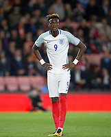 Tammy Abraham (Swansea City (on loan from Chelsea) of England U21 during the UEFA EURO U-21 First qualifying round International match between England 21 and Latvia U21 at the Goldsands Stadium, Bournemouth, England on 5 September 2017. Photo by Andy Rowland.