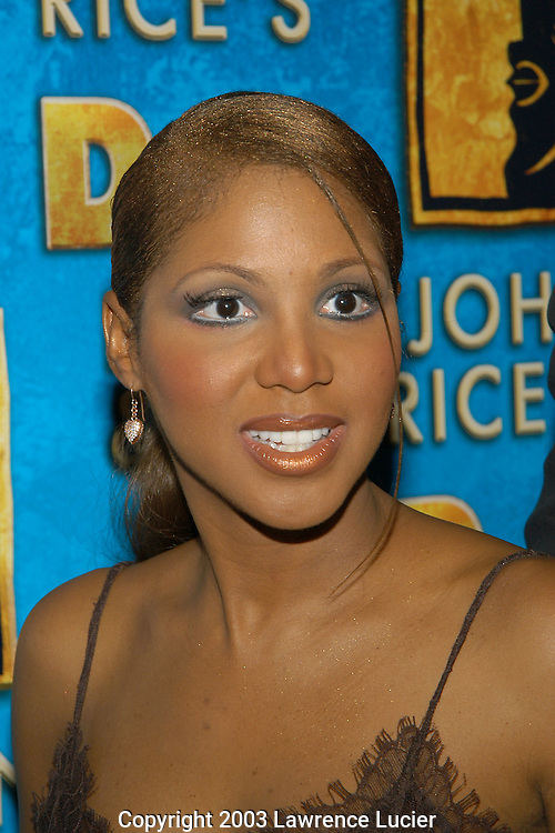 NEW YORK - JULY 17:  Recording artist Toni Braxton appears at the after party for her debut in the Broadway musical Aida July 17, 2003, at Laura Belle in New York City.