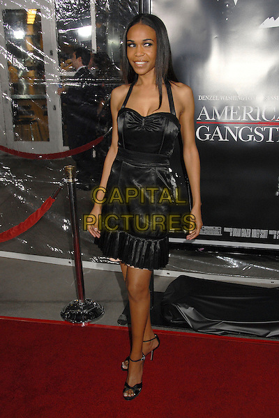 """MICHELLE WILLIAMS.""""American Gangster"""" Industry Screening at Arclight Theatres, Hollywood, California, USA..October 29th, 2007.full length black halterneck dress .CAP/ADM/BP.©Byron Purvis/AdMedia/Capital Pictures."""