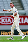 23rd March 2018, Eden Park, Auckland, New Zealand; International Test Cricket, New Zealand versus England, day 2;  Stuart Broad appeals unsuccessfully