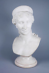 XX.5.83 <br /> Bust of Lataetia Bonaparte (Madame Mere). <br /> Not dated.<br /> Scuplture made by P. Marche.<br /> Marble.<br /> *Please note that the pedestal in ther photograph is not the original.<br /> Bonaparte Collection<br /> Museum Department<br /> Gift of Mrs. Charles J. Bonaparte