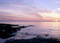 Bruce Peninsula and Lake Huron near Tobermory at Sunset