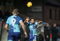 Sido Jombati of Wycombe Wanderers during the Sky Bet League 2 match between Wycombe Wanderers and Newport County at Adams Park, High Wycombe, England on 2 January 2017. Photo by Andy Rowland.