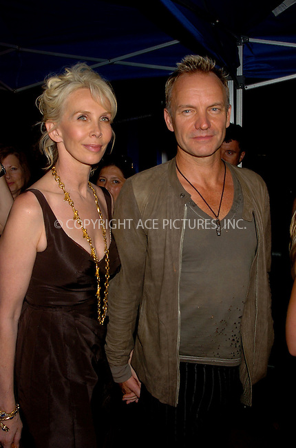 WWW.ACEPIXS.COM . . . . .  ....August 3, 2006, New York City. ....Sting and Trudie Styler attend the 'World Trade Center' World Premiere held at the Ziegfeld Theatre.......Please byline: AJ Sokalner - ACEPIXS.COM..... *** ***..Ace Pictures, Inc:  ..(212) 243-8787 or (646) 769 0430..e-mail: info@acepixs.com..web: http://www.acepixs.com