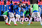 Takashi Inui of SD Eibar (C) Warming up between his teammates during the La Liga 2017-18 match between Getafe CF and SD Eibar at Coliseum Alfonso Perez Stadium on 09 December 2017 in Getafe, Spain. Photo by Diego Souto / Power Sport Images