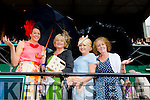 Having a great day out on Ladies at the Killarney Races were l-r Loretta Maher, Siobhan O'Brien, Denise O'Sullivan and Leone Murphy on Thursday