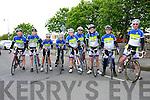 Kingdom Cycle Club.  Cieran Collins, Daragh Costello, David Fitzgerald, John Murphy, Owen Lynch, Tom Guerin, David Barrett, Dick McElligott and James Costello at the Ardfert Poultry Sale Fair on the Green Ardfert on Sunday