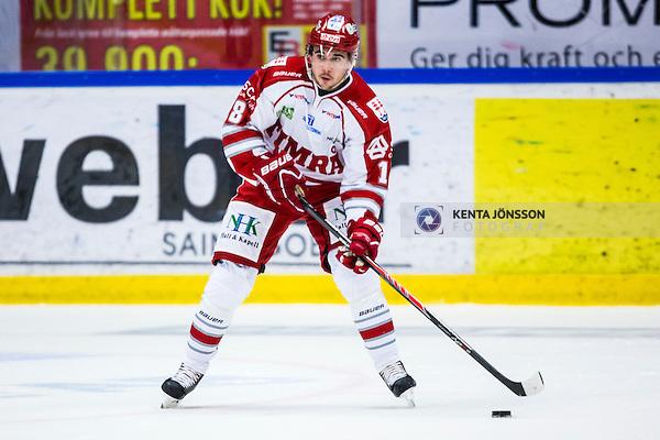 S&ouml;dert&auml;lje 2013-09-21 Ishockey Hockeyallsvenskan S&ouml;dert&auml;lje SK - Timr&aring; IK :  <br /> Timr&aring; 18 Jens Westin <br /> (Foto: Kenta J&ouml;nsson) Nyckelord:  portr&auml;tt portrait