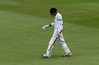 Haseeb Hameed of Lancashire leaves the field having been dismissed for 5 during Lancashire CCC vs Essex CCC, Specsavers County Championship Division 1 Cricket at Emirates Old Trafford on 9th June 2018