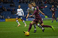 Bersant Celina of Swansea City crosses the ball during the Sky Bet Championship match between Preston North End and Swansea City at Deepdale, Preston, England, UK. Saturday 12 January 2019