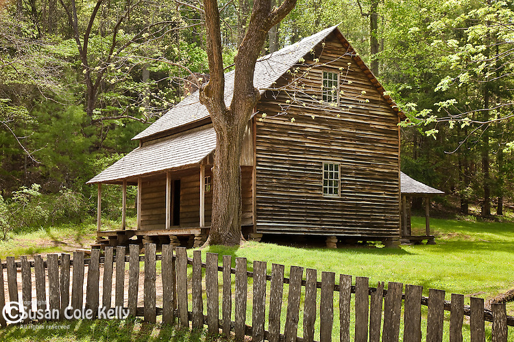 The Tipton Place in Cades Cove, Great Smoky Mountains National Park, TN, USA