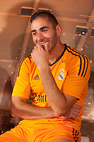 Real Madrid´s Benzema during the official presentation of the Adidas team´s football kit for the 2013-14 Champions League season in Europe tower, Madrid. September 12, 2013. (ALTERPHOTOS/Victor Blanco) /NortePhoto.com