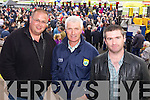 Pete Spink (Listowel) Noel Carmody (Listowel) and Austin Stack (Lisselton) pictured at Listowel races on Sunday.