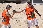 10.05.2015, Muenster, Schlossplatz<br /> smart beach tour, Supercup MŸnster / Muenster, Halbfinale<br /> <br /> Jubel Lars FlŸggen / Flueggen, Markus Bšckermann / Boeckermann<br /> <br />   Foto &copy; nordphoto / Kurth