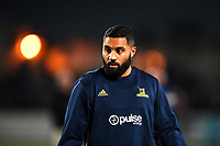 Lima Sopoaga of the Highlanders prior to the rugby match between the Highlanders and the French Barbarians at Rugby Park in Invercargill, New Zealand on Friday, 22 June 2018. Copyright Image: Joe Allison / lintottphoto.co.nz
