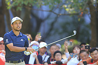 Xander Schauffele (USA) on the 3rd tee during the 2nd round of the WGC HSBC Champions, Sheshan Golf Club, Shanghai, China. 01/11/2019.<br /> Picture Fran Caffrey / Golffile.ie<br /> <br /> All photo usage must carry mandatory copyright credit (© Golffile   Fran Caffrey)