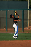 AZL D-backs second baseman Glenallen Hill Jr. (6) catches a pop fly during an Arizona League game against the AZL Mariners on July 3, 2019 at Salt River Fields at Talking Stick in Scottsdale, Arizona. The AZL D-backs defeated the AZL Mariners 3-1. (Zachary Lucy/Four Seam Images)