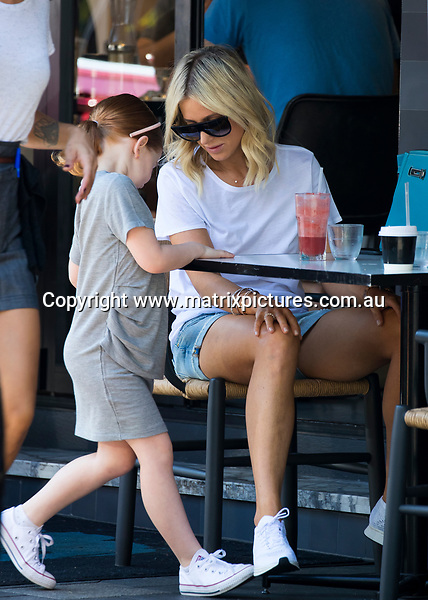 26 MARCH 2017 SYDNEY AUSTRALIA<br /> WWW.MATRIXPICTURES.COM.AU<br /> <br /> EXCLUSIVE PICTURES<br /> <br /> Roxy Jacenko pictured with her daughter Pixie having brunch at Indigo Cafe Double Bay.<br /> <br /> Note: All editorial images subject to the following: For editorial use only. Additional clearance required for commercial, wireless, internet or promotional use.Images may not be altered or modified. Matrix Media Group makes no representations or warranties regarding names, trademarks or logos appearing in the images.