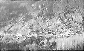 A distant view looking east toward Ophir showing the settlement and RGS Bridge 45-A.<br /> RGS  Ophir, CO