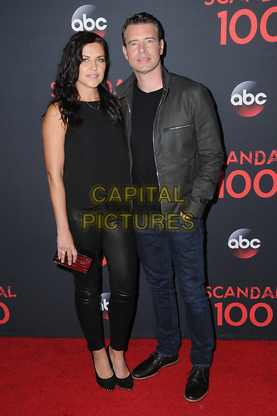 08 April 2017 - West Hollywood, California - Marika Dominczyk, Scott Foley. ABC's 'Scandal' 100th Episode Celebration held at Fig &amp; Olive in West Hollywood.   <br /> CAP/ADM/BT<br /> &copy;BT/ADM/Capital Pictures