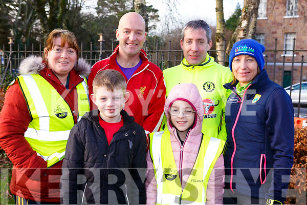 Causeway gang at the Tralee ParkRun on New Years Day. Front l-r, Zac Walsh and Ella Diggins.<br /> Back l-r, Evonne Diggins, John, Pat &amp; Pauline Walsh.