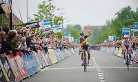 Heistse Pijl 2013<br /> <br /> Tom Boonen (BEL) outsprinting Kenny Dehaes (BEL) on the finish line