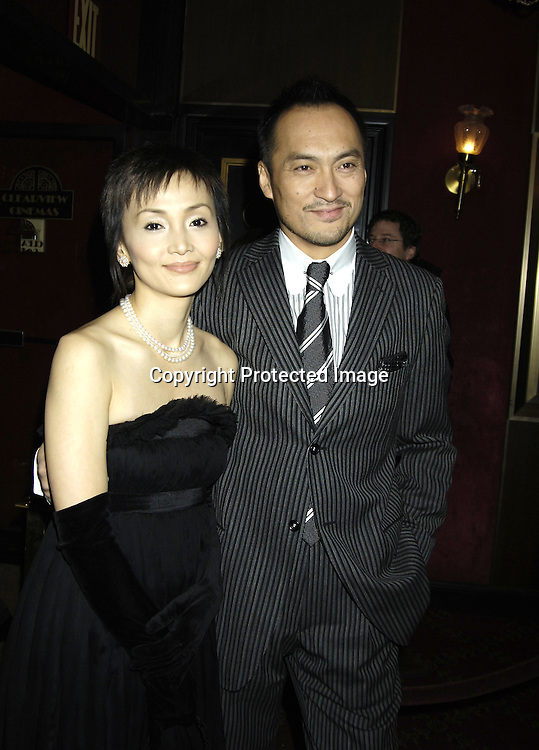 "Ken Watanabe and date..arriving at The New York Premiere of "" Memoirs Of A Geisha ""  on December 6. 2005 at The Ziegfeld Theatre...Photo by Robin Platzer, Twin Images.."