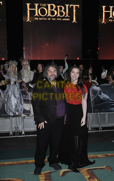 LONDON, ENGLAND - DECEMBER 01: Peter Jackson &amp; Katie Jackson attend the &quot;The Hobbit: The Battle of the Five Armies&quot; world film premiere, Odeon Leicester Square cinema, Leicester Square, on Monday December 01, 2014 in London, England, UK. <br /> CAP/CAN<br /> &copy;Can Nguyen/Capital Pictures