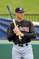 Outfielder Trayce Thompson (24) of the Kannapolis Intimidators, Class A affiliate of the Chicago White Sox, prior to a game against the Greenville Drive on May 26, 2011, at Fluor Field at the West End in Greenville, S.C. The game was postponed due to rain. Photo by Tom Priddy / Four Seam Images