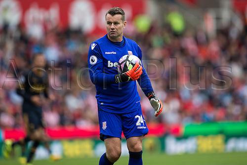 10.09.2016. Bet 365 Stadium, Stoke, England. Premier League Football. Stoke versus Tottenham Hotspur. Stoke City goalkeeper Shay Given.