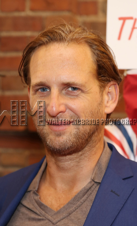 Jessica Ciencin Henriquez and Josh Lucas attends the Broadway Opening Night Performance for 'Michael Moore on Broadway' at the Belasco Theatre on August 10, 2017 in New York City.
