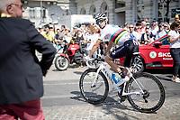 World Champion Alejandro Valverde (ESP/Movistar) at the start in Brussels<br /> <br /> Stage 1: Brussels to Brussels(BEL/192km) 106th Tour de France 2019 (2.UWT)<br /> <br /> ©kramon