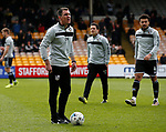 Chris Morgan coaching for Port Vale during the English League One match at Vale Park Stadium, Port Vale. Picture date: April 14th 2017. Pic credit should read: Simon Bellis/Sportimage