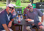 Hugh Brown and Jason Hawkins during the Barracuda Championship PGA golf tournament at Montrêux Golf and Country Club in Reno, Nevada on Saturday, July 27, 2019.