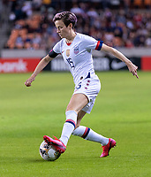 HOUSTON, TX - FEBRUARY 03: Megan Rapinoe #15 of the United States dribbles during a game between Costa Rica and USWNT at BBVA Stadium on February 03, 2020 in Houston, Texas.