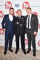 Danny Miller, John Middleton and Ryan Hawley<br /> arriving for the TV Choice Awards 2017 at The Dorchester Hotel, London. <br /> <br /> <br /> ©Ash Knotek  D3303  04/09/2017